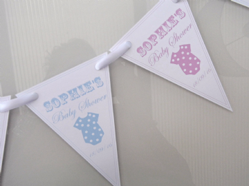 Baby Shower Paper Bunting